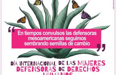 En tiempos convulsos las defensoras mesoamericanas seguimos sembrando semillas de cambio – 29N Día Internacional de las Mujeres Defensoras