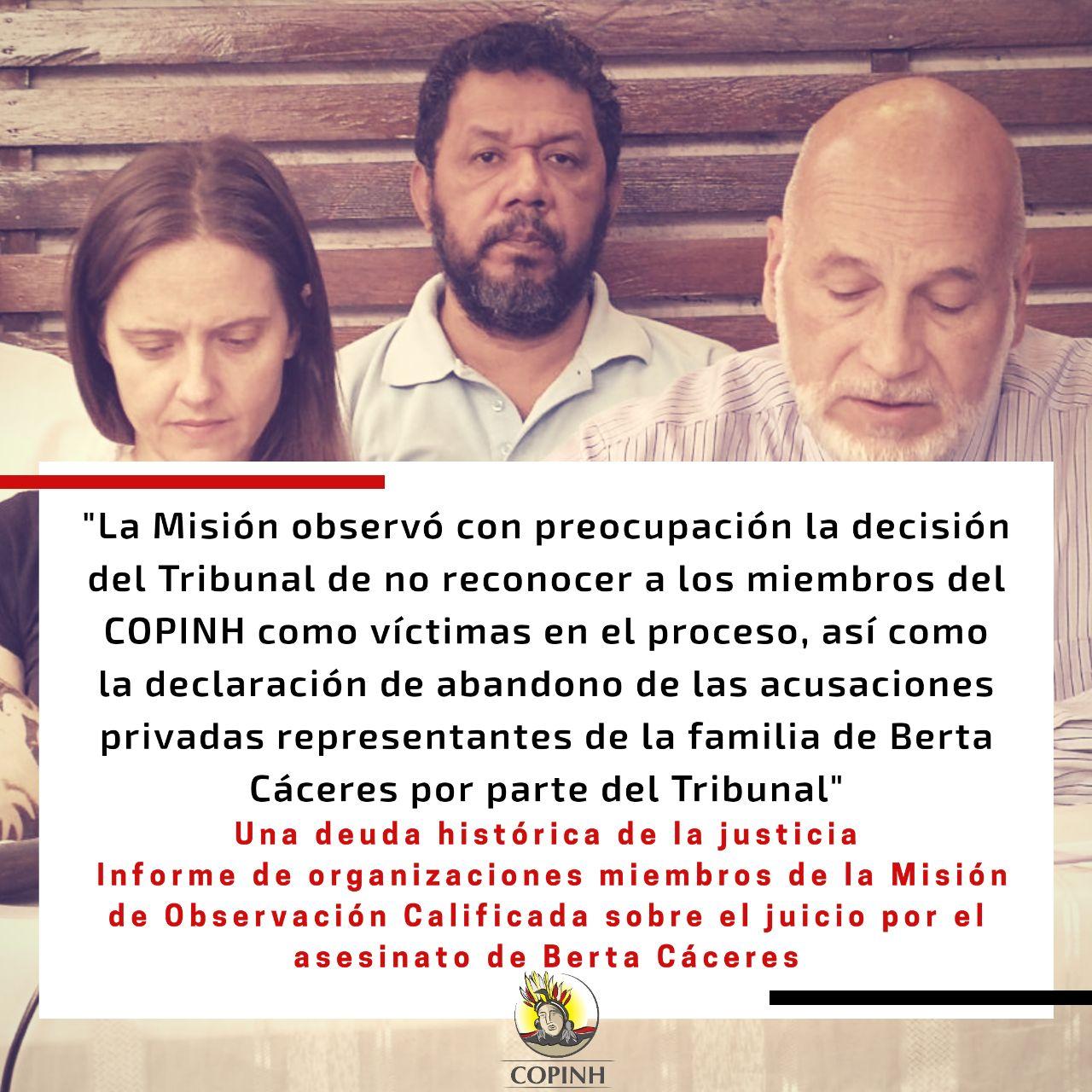 La justicia hondureña en deuda: Organizaciones presentan hallazgos sobre acceso a justicia en caso Berta Cáceres
