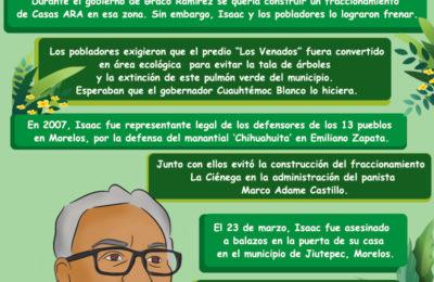 Isaac Medardo Herrara, Ambientalista y Defensor de los Territorios, es Asesinado en Morelos