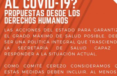 ¿Cómo sobrevivir al #Covid_19? Propuestas desde los derechos humanos