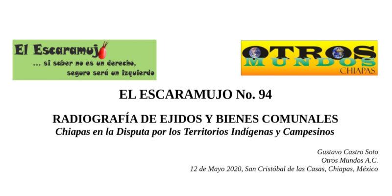 El Escaramujo 94: RADIOGRAFÍA DE EJIDOS Y BIENES COMUNALES