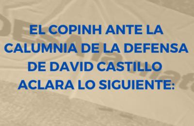El COPINH ante la calumnia de la defensa de David Castillo