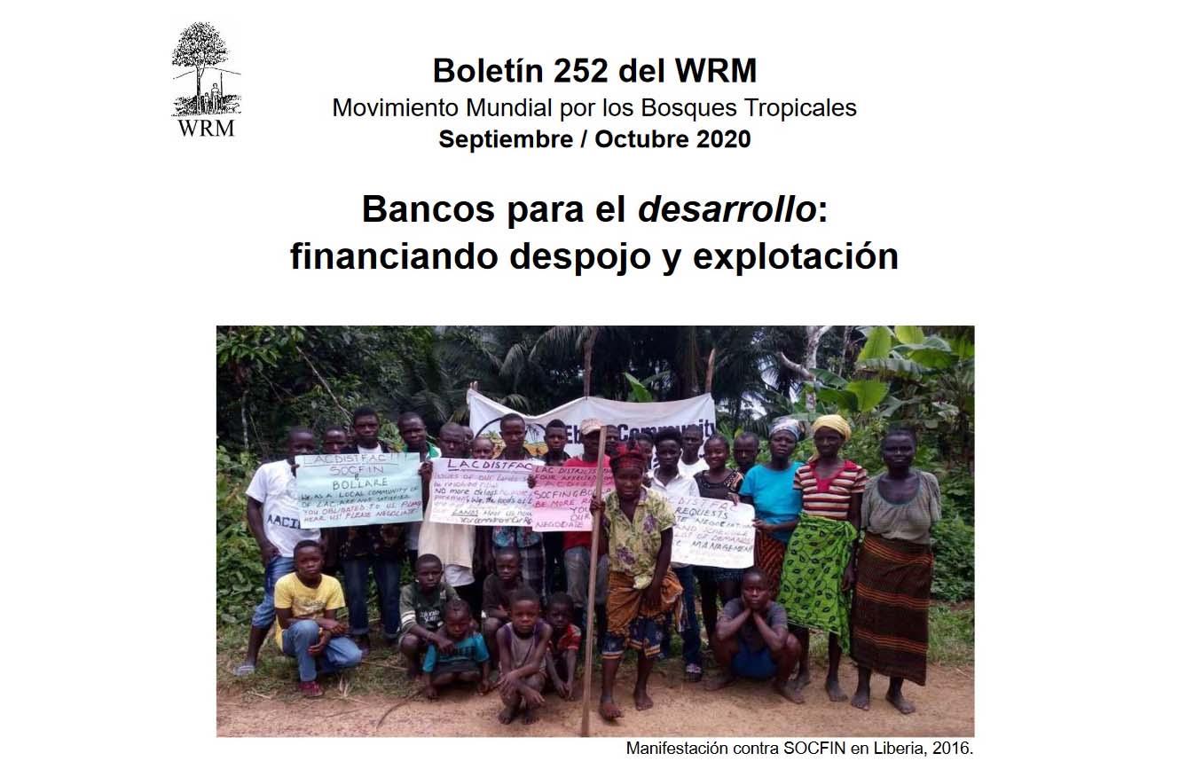 Boletín Bancos para el desarrollo:  financiando despojo y explotación