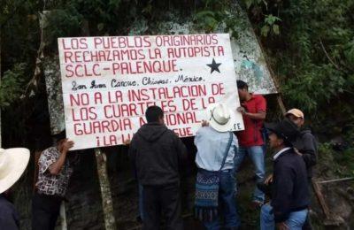 La organización indígena MODEVITE rechaza la construcción de la autopista SCLC-Palenque