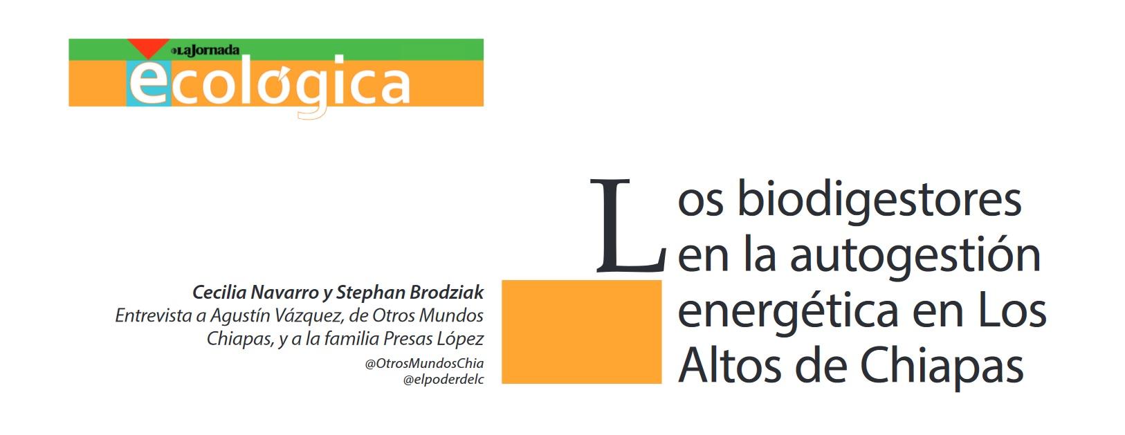 Los biodigestores en la autogestión energética en Los Altos de Chiapas