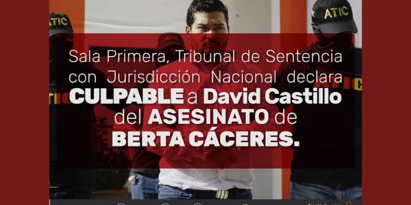 Una victoria popular de justicia para Berta; un paso al rompimiento del pacto de impunidad
