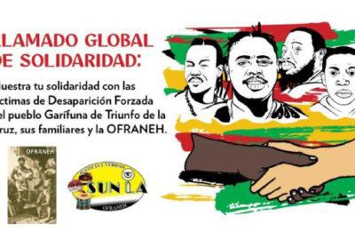 LLamado global de solidaridad con el Pueblo Garifuna en Honduras