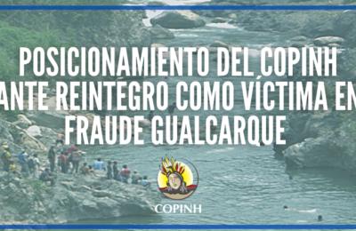 Posicionamiento del COPINH ante reintegro como víctima en caso Fraude sobre el Gualcarque