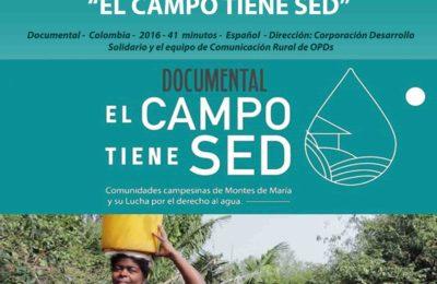 Martes 19 de octubre, 6 pm, Cine-debate: El campo tiene sed